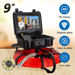 9 164ft 512hz Drain Endoscope System Waterproof Industrial Sewer Camera Dvr 16g