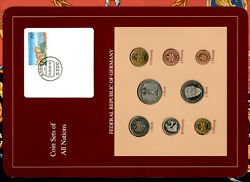 Coin Sets Of All Nations Germany 1986-1988 Unc W/card 5 Mark 1987 2 Mark 1988