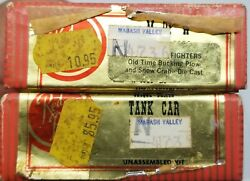 Red Ball Wabash Valley Train Kit Lot 2 Tank Car Bucking Plow And Snow Crab