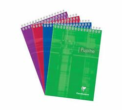 Clairefontaine Wirebound Notepad - Graph 80 Sheets - 5 3/4 X 8 1/4 - Assorted