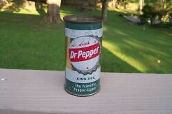 Super Rare Vintage Dr Pepper Soda Can - One Of A Kind Collectible
