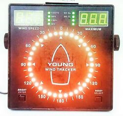 Young 06206 Compact Adjustable Marine Wind Tracker Speed Display