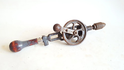 13 1/2 Vintage Sif 1942 Broad Arrow Egg Beater Hand Drill 40456