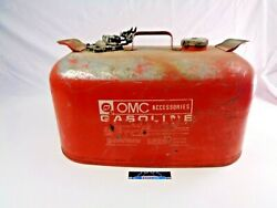 Omc Outboard 6 Gallon Remote Red Metal Gas Tank Fuel Can Evinrude Johnson