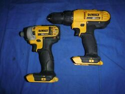 Dewalt 20v Dcd771 Drill And Dcf885 Impact Driver Set Tool Only