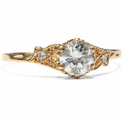From Our Workshop 750/000 Red Gold Ring With 0,53 Ct Diamonds Engagement Ring
