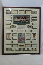 Framed Signed Autograph Photo Collection Of 1954 Champion Ny Giants