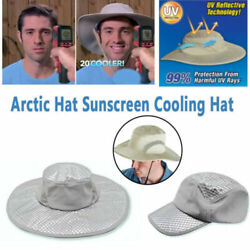 Cooling Hat Ice Hat Wide Brim Cap Summer Hat Sunscreen Arctic Cap Uv Protection