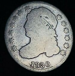 1830 Capped Bust Dime 10c Ungraded Details Good Date 90 Silver Us Coin Cc8440
