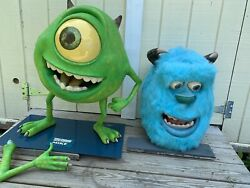 Disney/pixar Monsters Inc Mike And Sully Head Only Life Sized Display Rare