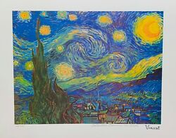 Vincent Van Gogh Starry Night Estate Signed Limited Edition Giclee Art 13 X 17