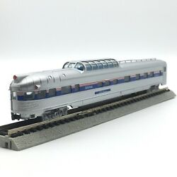 Con-cor N Scale Amtrak Silver Terrace Corrugated Budd Dome Observation Passenger