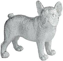 Rover 8quot; High Electroplated Silver Bulldog Sculpture