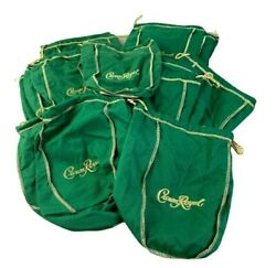 Lot of 25 Royal Crown Green amp; Gold Bags 9 Inches Crafts Quilts Storage $37.20