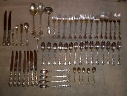 Strasbourg By Gorham Sterling Silver Flatware Place Size Set Service 55 Pieces