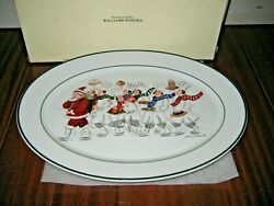 Williams Sonoma Guy Buffet Skating Chefs Serving Plate Platter Made Germany 16