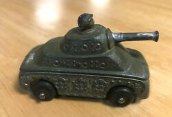 Vintage Diecast Metal Toy Military Tank With Man In Turret Barclay / Manoil Bv69