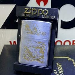 Vintage Zippo Bass Fishing Design 1971 Limited Edition Very Good Condition