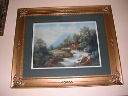 Taber Prang Art Co.signed 1906 Antique Lithograph. Painted By Giffinyer