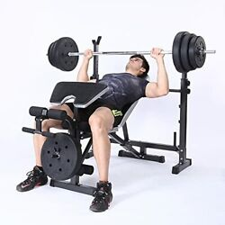 Adjustable Weight Bench Set For Full Body Workout, Multi-functional Olympic