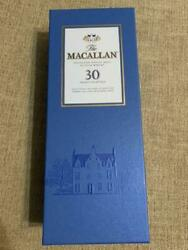 Macallan 30 Years Old Blue Label Rare Scotch Whiskey Empty Wooden Box Japan Dhl
