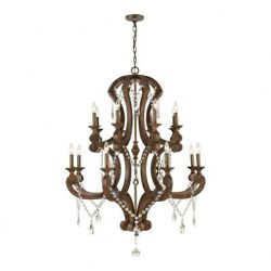 6teen Light 2-tier Chandelier In Traditional Style - 52 By 40 Inches Wide