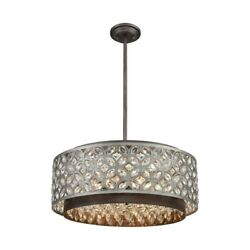 6 Light Chandelier In Traditional Style - 9 Inches Tall And 22 Inches Wide