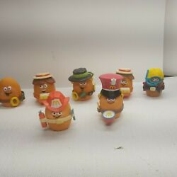 Vintage Mcdonalds Chicken Nugget 1988 Mcnugget Buddies Happy Meal Toys Lot Of 7