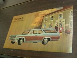 Oem Chevrolet 1966 Caprice Wagon Dealership Display Picture Cardboard Chevy