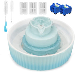 Wonder Creature Cupcake Cat Water Fountain Porcelain, Pet Fountain For Dog And C