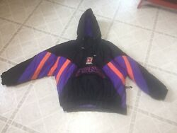 Make Offer 90s Starter Phoenix Suns Hooded Pullover Jacket Xl Extra Large
