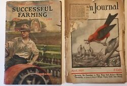Lot Of 2 Antique Successful Farming Magazine May 1927 Farm Journal April 1925