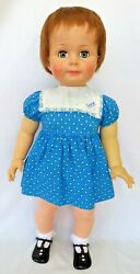 Vtg Ideal 1960 Playpal 28 Saucy Walker 28 Doll W/original Dress And Shoes Vgvc