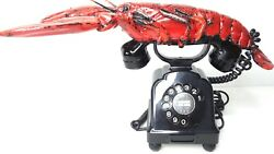 Telephone Bakelite Rotary Collectible 1945 German Red Lobster Very Rare