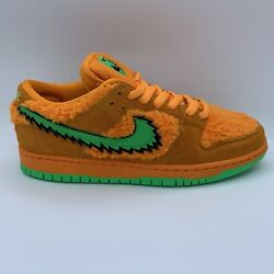 Deadstock Size 9 Grateful Dead X Nike Sb Dunk Low And039orange Bearand039 100 Authentic
