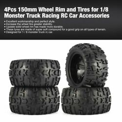 150mm Wheel Rim And Tires For 1/8 Monster Truck Traxxas Hsp Hpi E-maxx Savage Flux