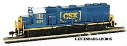 N Scale Csx Dcc And Sound Equipped Gp40 Locomotive Bachmann New 66354