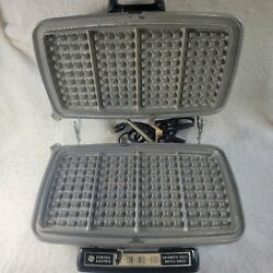 Vintage General Electric Ge Automatic Waffle Iron Baker Grill Chrome 14g44 Usa