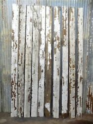 10 Reclaimed Wood Wainscoting Bead Board Architectural Salvage Vintage Z