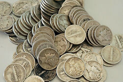 Lot Of 1000 Collectible Mercury Dimes 100 Face Value 90 Silver Us Coins