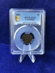1864 L On Ribbon Variety Indian Head Cent 1c Penny Pcgs Au53 About Unc