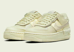 Nike Womenand039s Air Force 1 Shadow Shoes Coconut Milk Desert Sand Cu8591-102 New
