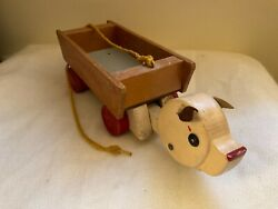Vintage 14andrdquo Wooden Toy Push Pull Toy Piggy Goes To Market Towner Toys Oregon Usa