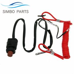 6e9-82575-09 For Yamaha Outboards Stop Switch And Safety Lanyard Sierra18-65450
