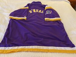 Shaquille Oand039neal 1996-1997 Nba 50 Lakers Game Used Worn Warm Up Jacket
