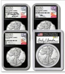 2021 1 Type 2 Ngc/pcgs Pf70 Fdoi 4 Coin Set All Type 2 Signed Labels Pre Sale