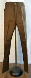 Vintage Brown Sta Prest Nuvo Flares Pants Size 29x31 Deadstock Nos Look