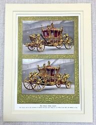 1937 Antique Print British Royal Gold State Coach Carriage King George Iii 1762