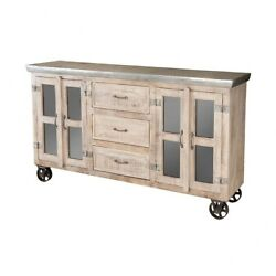 Rustic Cabinets On Wheels With Doors And Drawers Made Of Glass/metal/solid Wood