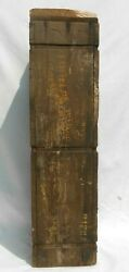 Rare Wwii Hellcat Tank 76mm Ugly Explosive Tnt Projectile Cannon Ammo Crate A2